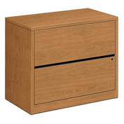 "HON® 10500 Series Lateral File Two-Drawer 36""W x 20""D x 29-1/2""H Harvest"