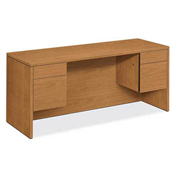 "HON® 10500 Series Credenza with Knee space - Box/File 60""W x 24""D x 29-1/2""H Harvest"