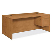 "HON® 10500 Series ""L"" or ""U"" Workstation Right Pedestal Desk 72""W x 36""D x 29-1/2""H Harvest"