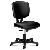 HON® Task Chair with Arms and Synchro Tilt - Leather - Black - Volt Series