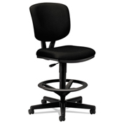 HON® Volt Task Stool with Armrest - Fabric -  Black
