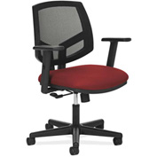HON® Mesh Back Task Chair with Arms - Fabric - Crimson - Volt Series