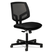 HON® Volt Task Chair Mesh Back Pneumatic Swivel Synchro Tilt Black Polyester