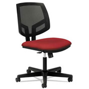 HON® Mesh Back Armless Task Chair with Synchro Tilt - Fabric - Crimson - Volt Series