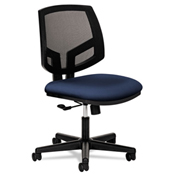 HON® Mesh Back Task Chair with Synchro Tilt - Fabric - Navy - Volt Series