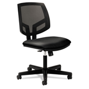 HON® Mesh Back Task Chair with Synchro Tilt - Leather - Black - Volt Series