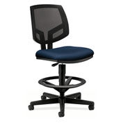 HON® Volt Mesh Task Stool with Armrest - Fabric - Navy