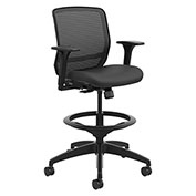 HON® Mesh Mid-Back Task Stool - Black - Quotient Series