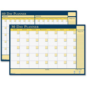 "House of Doolittle™ Non-dated 30/60 Day Planner 36"" x 24"" x 0"" Blue, Yellow"