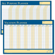 "House of Doolittle™ All Purpose Laminated Vacation Planner 3"" x 3"" x 25"" Blue, Yellow"