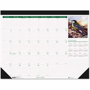 House of Doolittle Wild Birds Photographic Monthly Desk Pad Calendar, 18-1/2 x 13, 2017