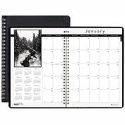 House of Doolittle Monthly Planner w/Black-&-White Photos, 8-1/2 x 11, Black, 2016-2017