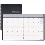 House of Doolittle™ 24-Month Ruled Monthly Planner, 8-1/2 x 11, Black, 2017-2018