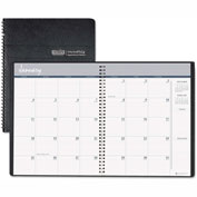 House of Doolittle Ruled Monthly Planner, 14-Month December-January, 8-1/2 x 11, Black, 2016-2017
