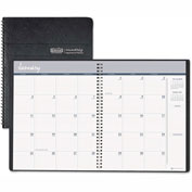 House of Doolittle™ Ruled Monthly Planner, 14-Month Dec.-Jan., 6-7/8 x 8-3/4, Black, 2016-2017