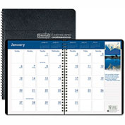 House of Doolittle™ Earthscapes Full-Color Monthly Planner, 8-1/2 x 11, Black, 2016-2018