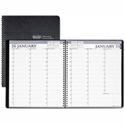 House of Doolittle Two-Year Professional Weekly Planner, 15-Min. Appts., 8-1/2 x 11, Blk, 2017-2018