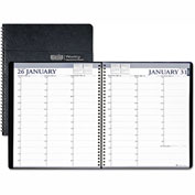 House of Doolittle Professional Weekly Planner, 15-Minute Appointments, 8-1/2 x 11, Black, 2017
