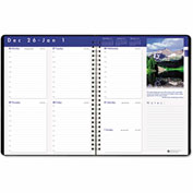House of Doolittle Earthscapes Executive Hardcover Weekly Appointment Book, 8-1/2 x 11, Black, 2017