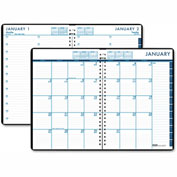 House of Doolittle™ 24/7 Daily Appointment Book/Monthly Planner, 7 x 10, Black, 2017