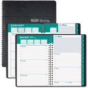 House of Doolittle Express Track Weekly/Monthly Appointment Book, 8-1/2 x 11, Black, 2017-2018