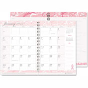 House of Doolittle™ Breast Cancer Awareness Monthly Planner/Journal, 7 x 10, Pink, 2017