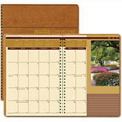House of Doolittle Landscapes Full-Color Monthly Planner, Ruled, 7 x 10, Brown, 2017