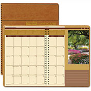 House of Doolittle Landscapes Full-Color Monthly Planner, Ruled, 8-1/2 x 11, Brown, 2017