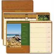 House of Doolittle Landscapes Weekly/Monthly Planner, 8-1/2 x 11, Brown, 2017