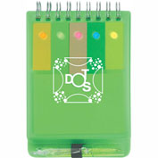 Promotional Sticky Flags  - Spiral Jotter w/ Sticky Notes, Flags & Pen