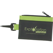 Custom ID Holder w/ Zippered Compartment & Clip