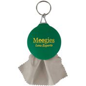 Promotional Rubber Key Chain With Microfiber Cleaning Cloth