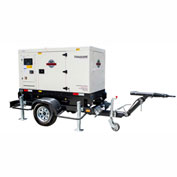 Tomahawk TDG40-TE-EPA, 40 KW, 3 Phase, Tier 4, Towable Back Up Emergency Diesel Generator