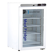 ABS Premier Pharmacy/Vaccine Undercounter Refrigerator, Freestanding, Glass Door, 2.5 Cu. Ft.
