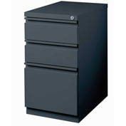 "Hirsh Industries® 20"" Deep Box/Box/File Mobile Pedestal - Charcoal"
