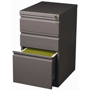 "Hirsh Industries® 20"" Deep Box/Box/File Mobile Pedestal - Medium Tone"