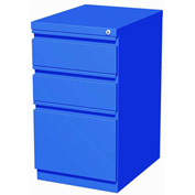 "Hirsh Industries® 20"" Deep Box/Box/File Mobile Pedestal - Blue"