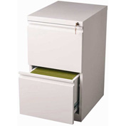 "Hirsh Industries® 20"" Deep File/File Mobile Pedestal - White"