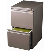 "Hirsh Industries® 20"" Deep File/File Mobile Pedestal - Metallic Bronze"