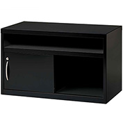 "Hirsh Industries® Low Credenza with Sliding Door - 36""W - Black"