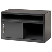 "Hirsh Industries® Low Credenza with Sliding Door - 36""W - Charcoal"