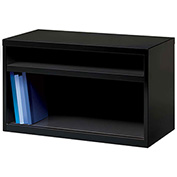 "Hirsh Industries® Low Credenza with 2 Open Shelves - 36""W - Black"