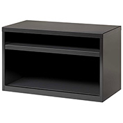 "Hirsh Industries® Low Credenza with 2 Open Shelves - 36""W - Charcoal"