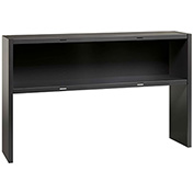 "Hirsh Industries® Modular Steel Stack-on Desk Hutch - 60""W - Charcoal"