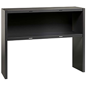 "Hirsh Industries® Modular Steel Stack-on Desk Hutch - 48""W - Charcoal"