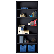 "Hirsh 6 Shelf Bookcase 34-1/2""W x 13""D x 82""H, Black"