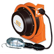 Hubbell GCA16335-HL Industrial Duty Cord Reel with Incandescent Hand Lamp - 16/3c x 35'