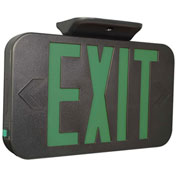 Hubbell CEGB LED Exit Sign, Black, Green Letters w/ Ni-Cad Battery