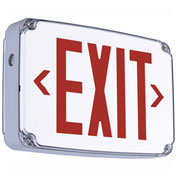 Hubbell CEWSRE LED Wet Location Exit Sign, Single Face, Red w/ Nickel Cadmium Battery