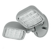 Hubbell CWRD Outdoor Dual Head Remote LED Fixture, Use with CU2W, Outdoor, Grey